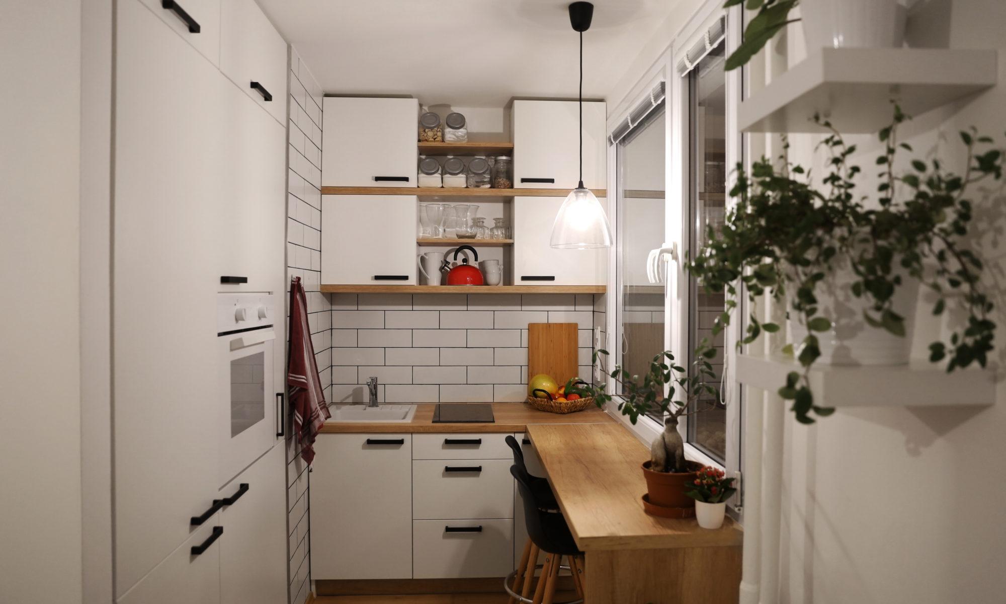 Aménager une petite cuisine - Un jardin et une cuisine